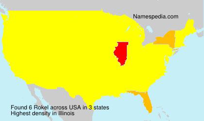Familiennamen Rokel - USA