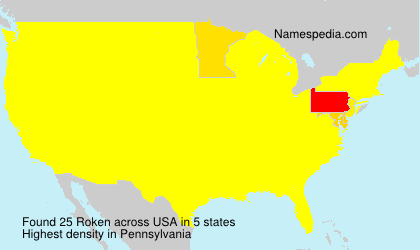 Surname Roken in USA