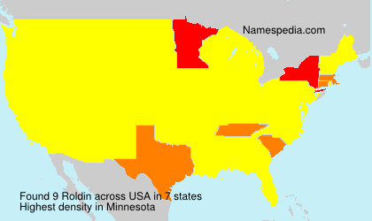 Surname Roldin in USA