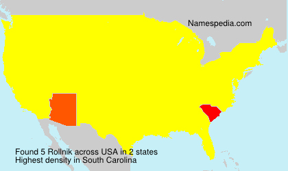 Surname Rollnik in USA