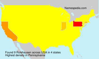 Surname Rolshausen in USA