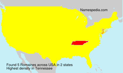 Surname Romaines in USA