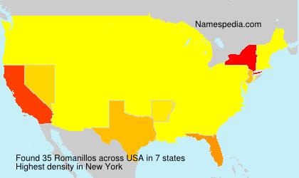 Surname Romanillos in USA