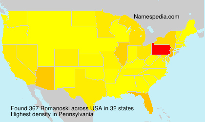Surname Romanoski in USA