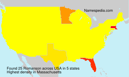 Surname Romanson in USA