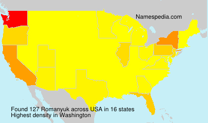 Surname Romanyuk in USA