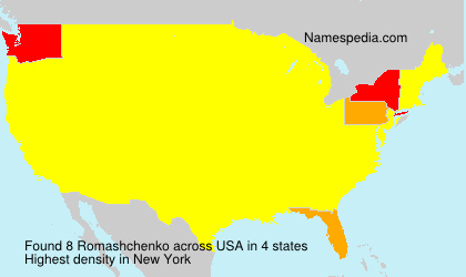 Surname Romashchenko in USA