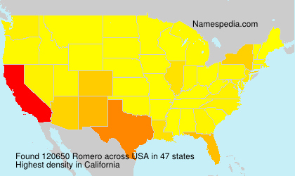 Surname Romero in USA