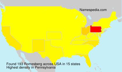 Surname Romesberg in USA