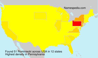 Surname Rominiecki in USA