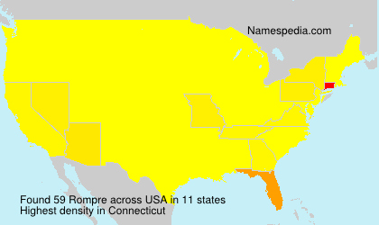Surname Rompre in USA
