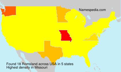 Familiennamen Romsland - USA