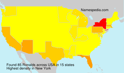 Surname Ronalds in USA