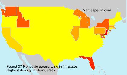 Familiennamen Roncevic - USA