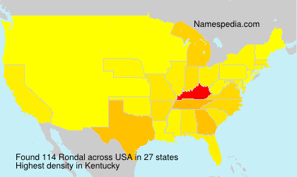 Surname Rondal in USA