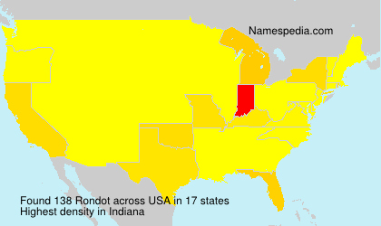 Surname Rondot in USA