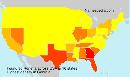 Surname Ronetta in USA