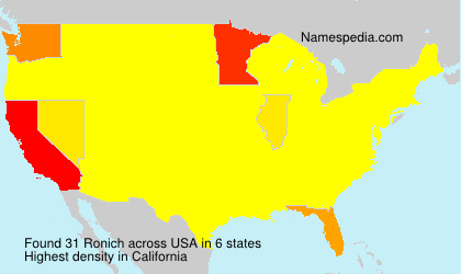 Surname Ronich in USA