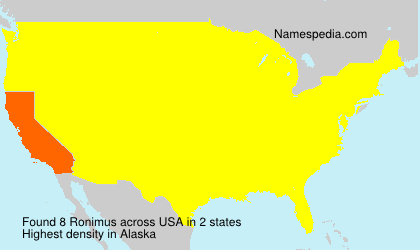 Surname Ronimus in USA