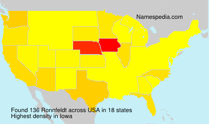 Surname Ronnfeldt in USA