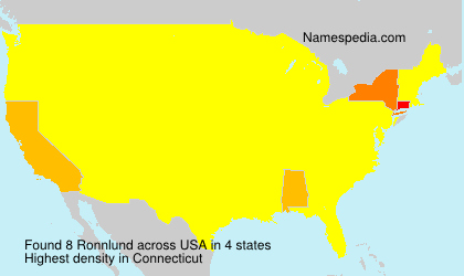 Surname Ronnlund in USA