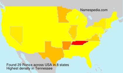 Surname Ronza in USA