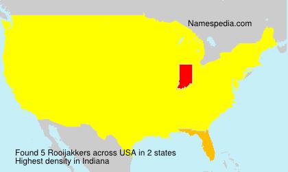 Familiennamen Rooijakkers - USA