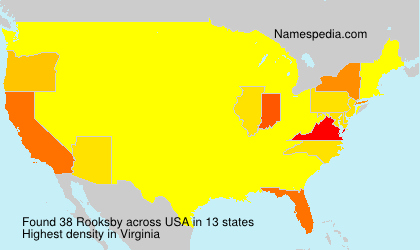 Surname Rooksby in USA