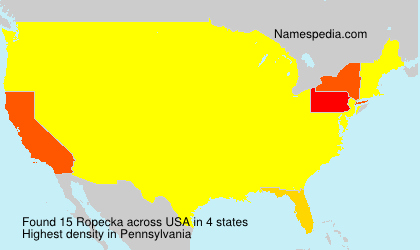 Surname Ropecka in USA