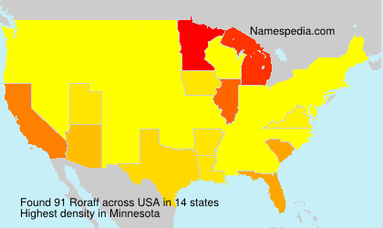 Surname Roraff in USA