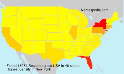 Surname Rosado in USA