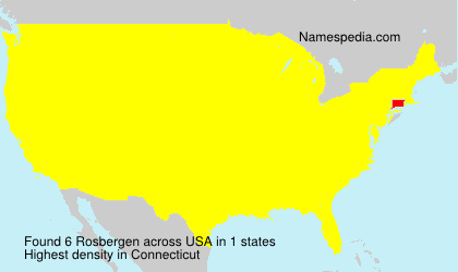 Surname Rosbergen in USA