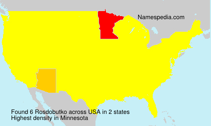 Surname Rosdobutko in USA