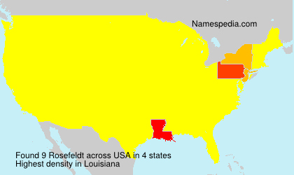 Surname Rosefeldt in USA