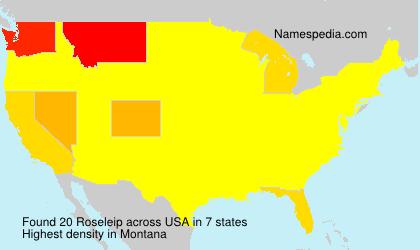 Surname Roseleip in USA