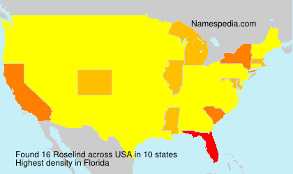Surname Roselind in USA