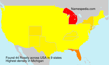 Surname Rosely in USA