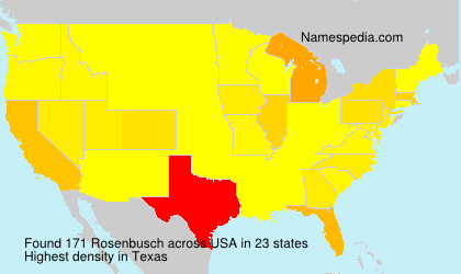 Surname Rosenbusch in USA