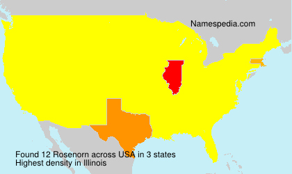 Surname Rosenorn in USA