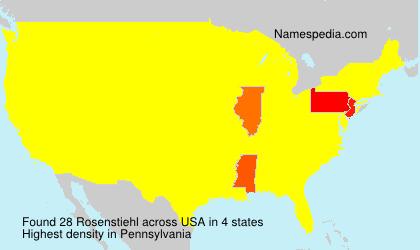 Familiennamen Rosenstiehl - USA