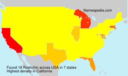 Familiennamen Roshchin - USA