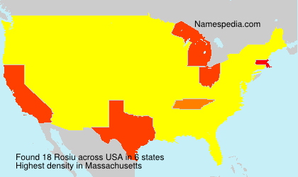 Surname Rosiu in USA