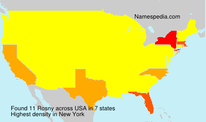 Surname Rosny in USA