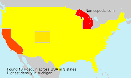 Surname Rosquin in USA