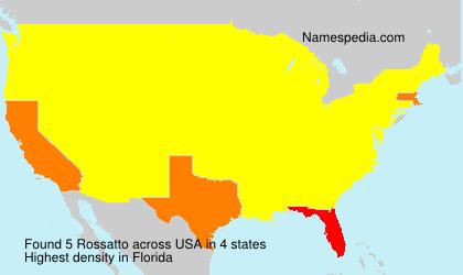 Familiennamen Rossatto - USA