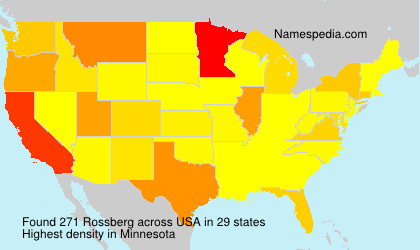 Surname Rossberg in USA