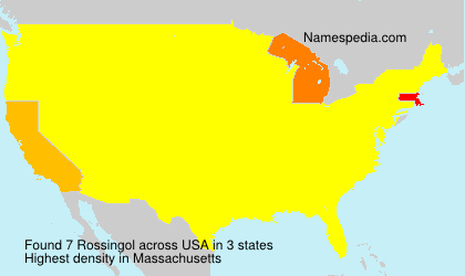 Surname Rossingol in USA