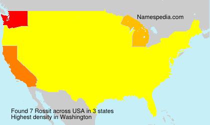 Familiennamen Rossit - USA