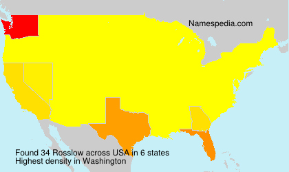 Surname Rosslow in USA
