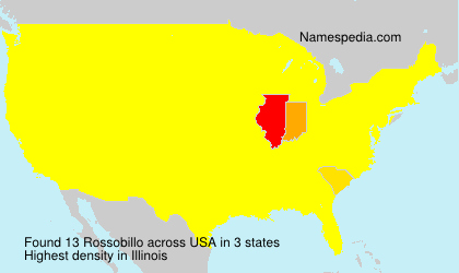 Surname Rossobillo in USA